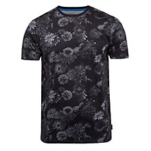 Buy Ted Baker Carlo Floral Cotton T-Shirt, Charcoal Online at johnlewis.com