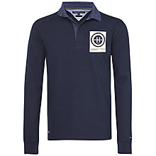Buy Tommy Hilfiger Nick Cotton Rugby Shirt, Navy Blazer Online at johnlewis.com