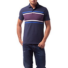 Buy Tommy Hilfiger Berend Striped Polo Shirt, Navy/Multi Online at johnlewis.com
