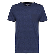 Buy Tommy Hilfiger Tyson Paisley Print T-Shirt, Navy Online at johnlewis.com