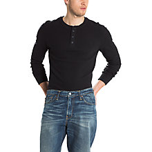 Buy Levi's Refined Long Sleeve Henley Top Online at johnlewis.com