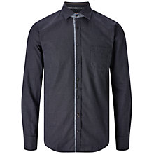 Buy BOSS Orange Eslime Fine Print Slim Fit Shirt, Black Online at johnlewis.com