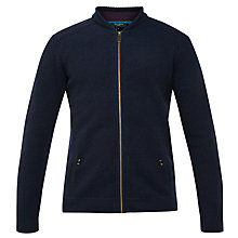 Buy Ted Baker Bali Merino Zip Through Cardigan, Navy Online at johnlewis.com