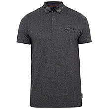 Buy Ted Baker Raffa Geo Print Collar Shirt, Black Online at johnlewis.com