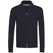 Buy Tommy Hilfiger Eton Baseball Double-Zip Knitted Jumper, Midnight Online at johnlewis.com