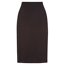 Buy Hobbs Kendall Skirt, Black/Ivory Online at johnlewis.com