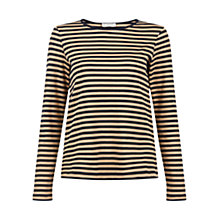 Buy Hobbs Evie Top, Navy/Camel Online at johnlewis.com