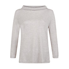 Buy Hobbs Audrey Jersey Top, Grey Marl Online at johnlewis.com