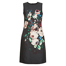 Buy Hobbs Painted Blooms Dress, Black Multi Online at johnlewis.com