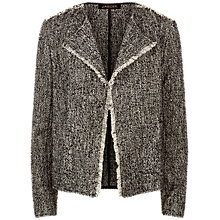 Buy Jaeger Textured Jacket, Black Online at johnlewis.com