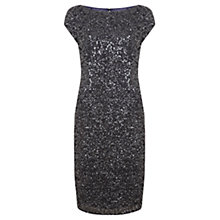 Buy Mint Velvet Beaded Dress, Blue Online at johnlewis.com