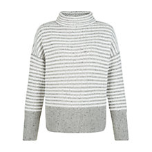 Buy Hobbs Sommer Jumper, Grey/Ivory Online at johnlewis.com