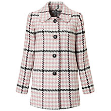 Buy Miss Selfridge Check Button Coat, Multi Online at johnlewis.com