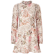 Buy Miss Selfridge Floral Long Sleeve Mini Dress Online at johnlewis.com