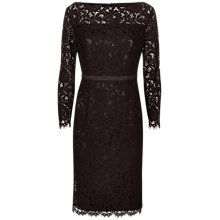 Buy Jaeger Essential Lace Dress, Black Online at johnlewis.com