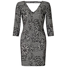 Buy Miss Selfridge Petite Lace Bodycon Dress, Black Online at johnlewis.com