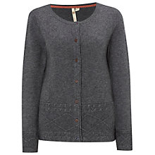 Buy White Stuff Hump Waves Cardigan, Charcoal Online at johnlewis.com