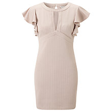 Buy Miss Selfridge Petite Ribbed Bodycon Dress, Gold Online at johnlewis.com