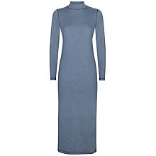 Buy Jaeger Melange Roll Neck Dress, Denim Online at johnlewis.com