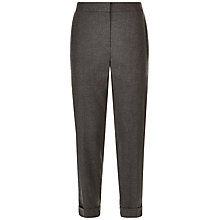 Buy Jaeger Flannel Ruby Trousers, Grey Melange Online at johnlewis.com