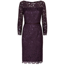 Buy Jaeger Essential Lace Dress, Purple Online at johnlewis.com