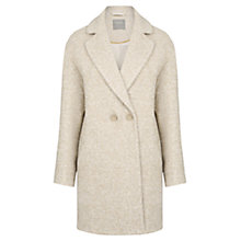 Buy Oasis Nicole Cocoon Coat, Light Neutral Online at johnlewis.com