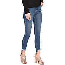 Buy Miss Selfridge Lizzie Step Hem Jeans, Mid Wash Denim Online at johnlewis.com