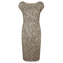 Buy Mint Velvet Beaded Dress, Neutral Online at johnlewis.com