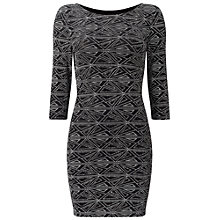 Buy Miss Selfridge Petite Bodycon Dress, Silver Online at johnlewis.com