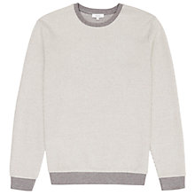 Buy Reiss Comet Textured Cotton Jumper, Ecru Online at johnlewis.com