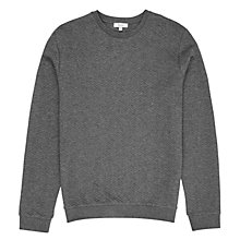Buy Reiss Stargate Quilted Sweatshirt, Charcoal Online at johnlewis.com
