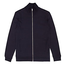 Buy Reiss Molton Funnel Collar Zip Jumper, Navy Online at johnlewis.com
