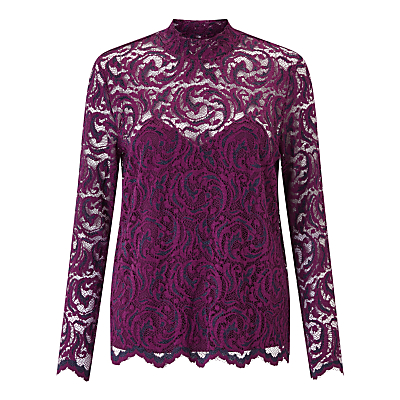 Samsoe & Samsoe Alia Lace Top, Dark Purple