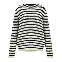 Buy Samsoe & Samsoe Hedvig Jumper, Dark Blue Stripe Online at johnlewis.com