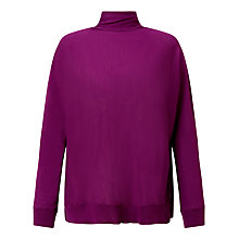 Buy Samsoe & Samsoe Darci Roll Neck Jumper, Dark Purple Online at johnlewis.com