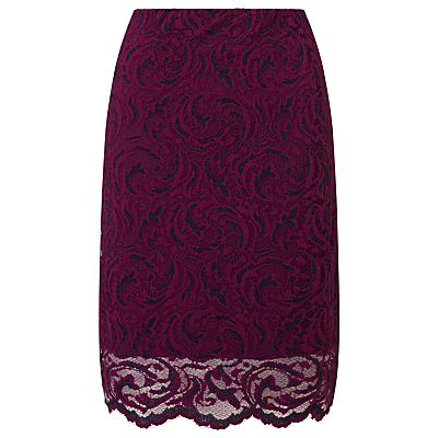 Samsoe & Samsoe Alia Lace Pencil Skirt, Dark Purple