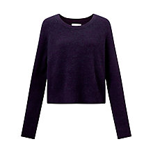 Buy Samsoe & Samsoe Nor Short Jumper, Purple Melange Online at johnlewis.com