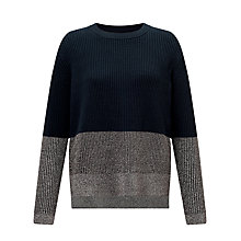 Buy Samsoe & Samsoe Ninon Colour Block Jumper, Dark Sapphire Online at johnlewis.com