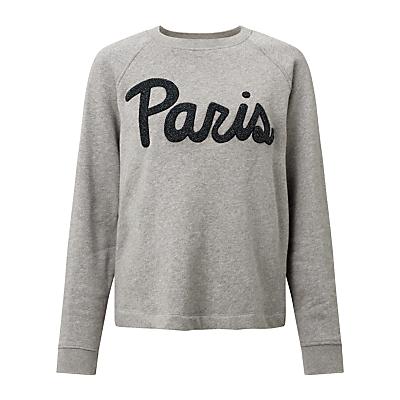 Samsoe & Samsoe Aphia Paris Sweatshirt, Dark Grey Melange