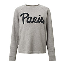Buy Samsoe & Samsoe Aphia Paris Sweatshirt, Dark Grey Melange Online at johnlewis.com