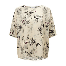 Buy Samsoe & Samsoe Mains Floral Print T-Shirt, Fleur Clair Online at johnlewis.com