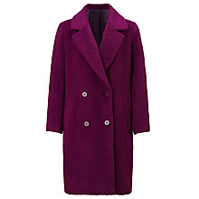 Buy Samsoe & Samsoe Pompo Long Jacket, Dark Purple Online at johnlewis.com