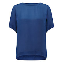 Buy Samsoe & Samsoe Signy Silk Blouse, Estate Blue Online at johnlewis.com