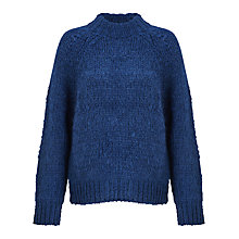 Buy Samsoe & Samsoe Atwo Chunky Knit Jumper, Estate Blue Online at johnlewis.com