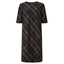 Buy Jigsaw Plaid Flannel Dress, Black Online at johnlewis.com