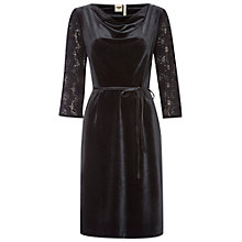Buy White Stuff Lark Velvet Dress, Black Online at johnlewis.com