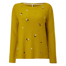 Buy White Stuff Mineral Spot Jumper, Dandelion Yellow Online at johnlewis.com