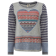 Buy White Stuff Pattern My Heart Jumper, Grey Marl Online at johnlewis.com