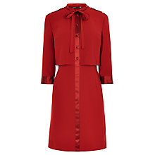 Buy Karen Millen Pretty 60s Shirt Dress, Dark Red Online at johnlewis.com