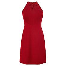 Buy Karen Millen Bow Neck A-Line Dress, Pink Online at johnlewis.com